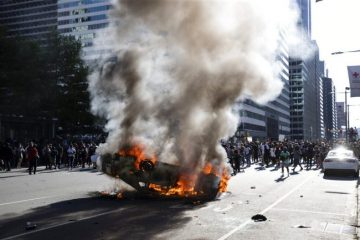 rioters attack